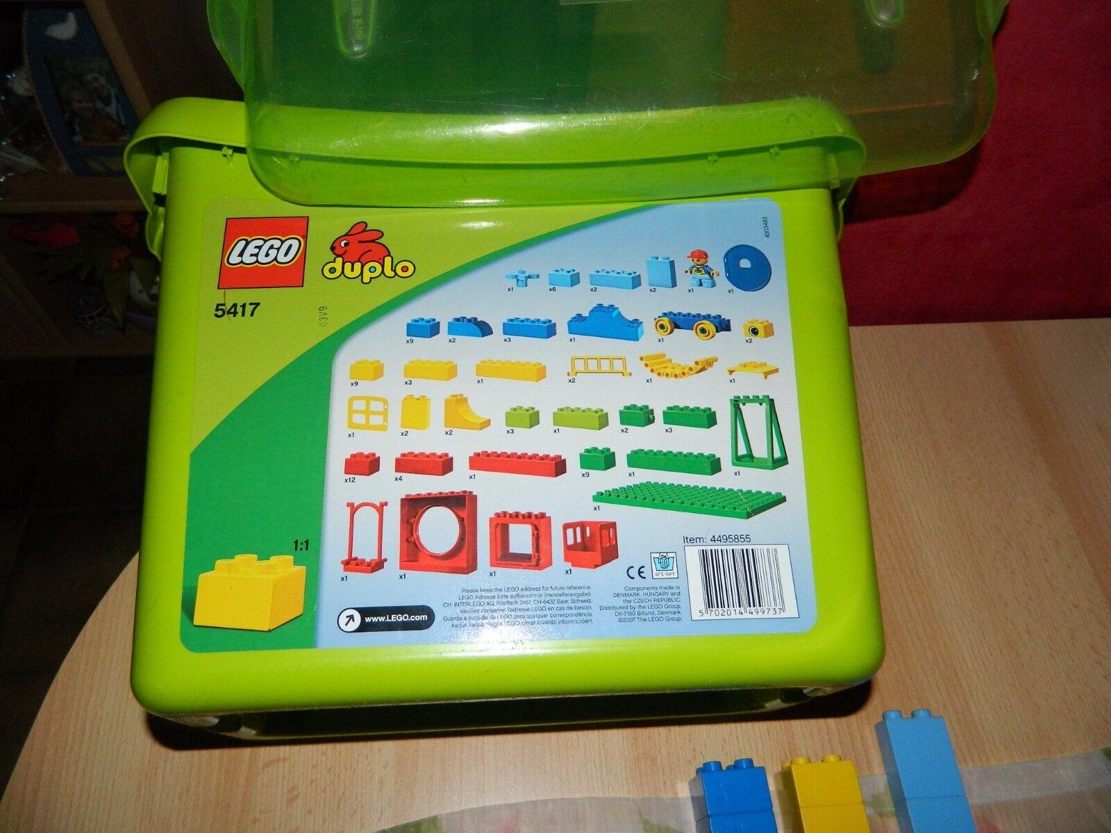 LEGO Duplo 5417 im Eimer plus 51teiliges Zoo Konvolut - sehr guter Zustand
