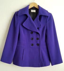 Petite Cachemire Laine 12 Rrp En Manteau Pourpres Taille Et Precis Violet gpBqwdnxXq