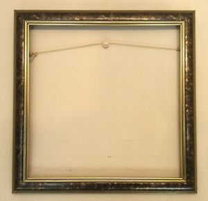 Wood-Picture-Frame-Black-amp-Gold-Straight-Lines-with-Fluid-Pattern-16x16-034