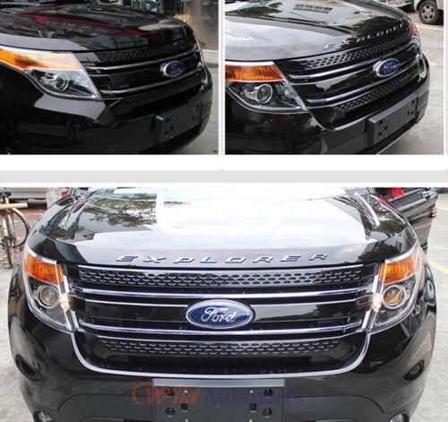 For Ford Explorer 2011-2018 SILVER Graphite Hood Letters Emblem-Matte Finish