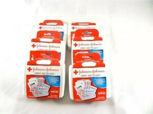 New Lot Of Six Johnson And Johnson First Aid Kits To Go 12 PCs Car, Truck, Home