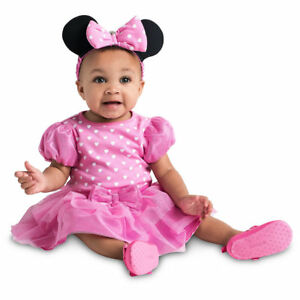 Image is loading DISNEY-Store-COSTUME-for-Baby-Minnie-Mouse-Pink-  sc 1 st  eBay & DISNEY Store COSTUME for Baby - Minnie Mouse Pink 6 9 12 18 24 ...
