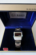 VINTAGE NOS RADO 70'S LED DIGITAL COLLECTIBLE WATCH INNER OUTER BOX AS IS