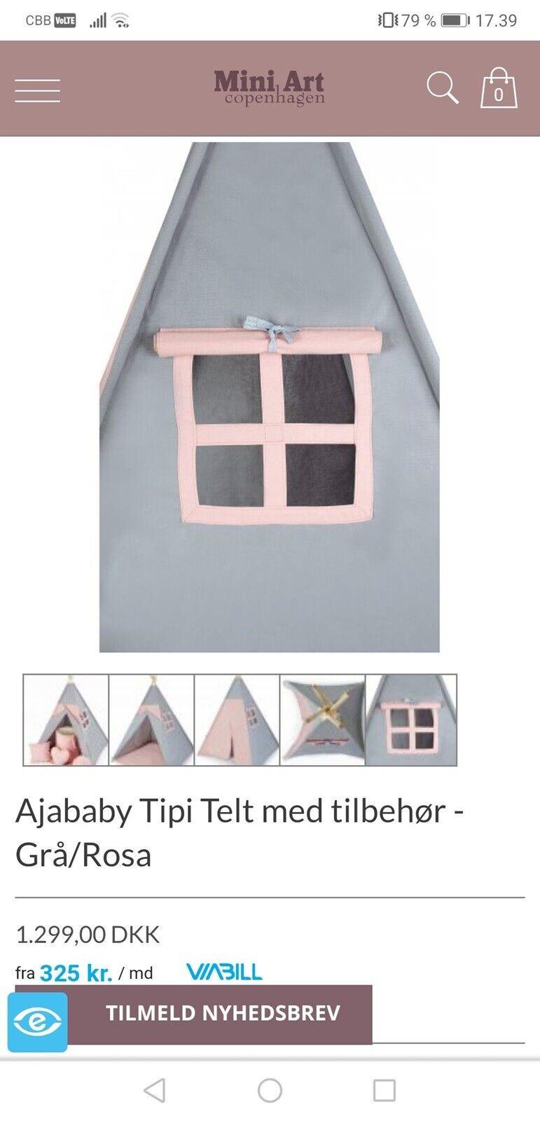 Andet legetøj, Tipi telt, Ajababy – dba.dk – Køb og Salg af