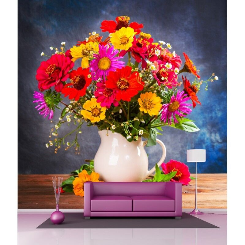 Carta Dipinto Gigante Bouquet Fleurs4524