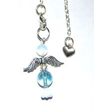 Beautiful Aqua Aura Quartz Crystal Guardian Angel Charm Pendulum - Cleansing