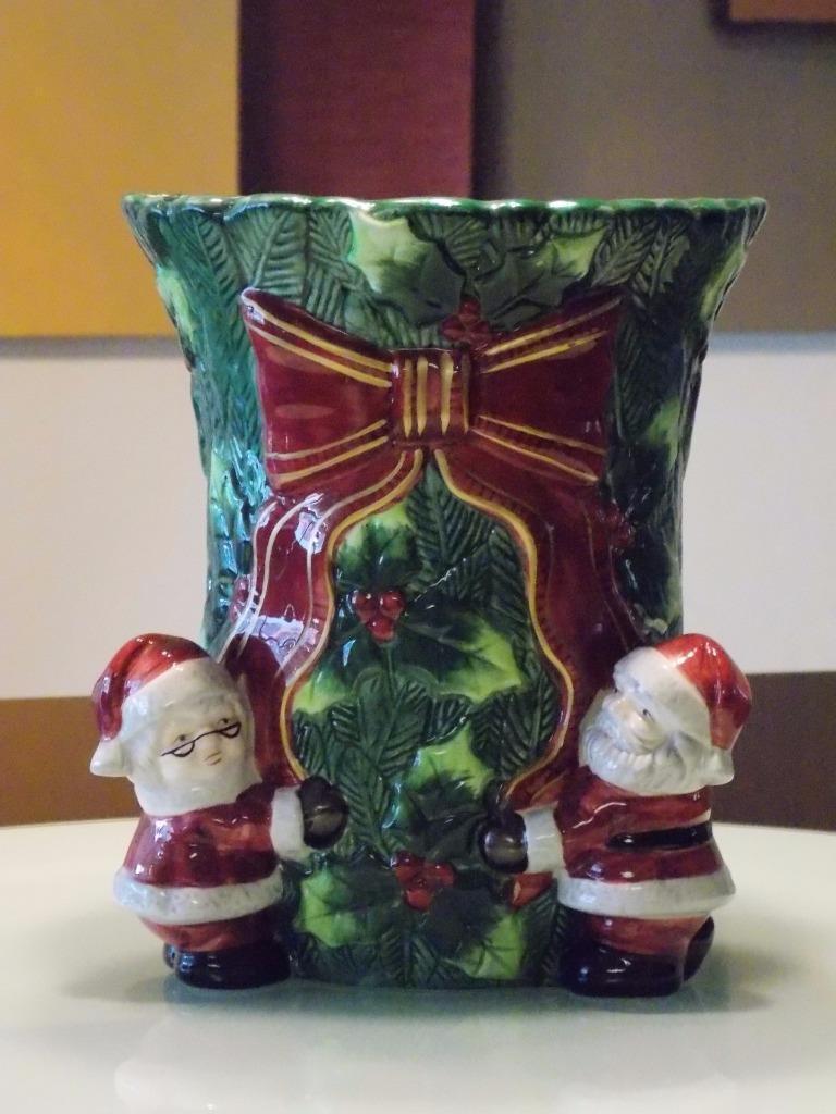 Vintage Christmas Santa Vase Centerpiece Holiday Holiday Holiday Decor 3ed93a