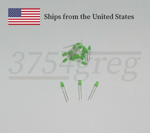 Blue Green 3mm Small LED Red or Yellow 20 Pack