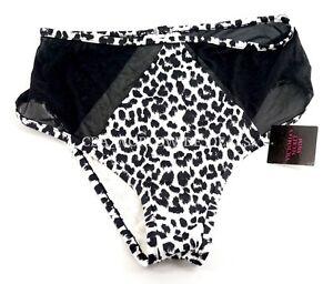 24d2081d7e Victoria s Secret Side Mesh Leopard Print High Waist Bikini Bottom S ...