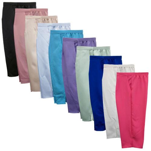NUOVO 3/4 donna metà Vita Elasticizzata Pantaloni corti con tasche taglie 12-24