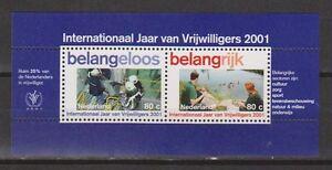NVPH-Nederland-nr-1968-blok-sheet-MNH-PF-2001-Netherlands-Jaar-Vrijwilligers