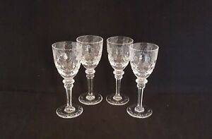 Rogaska-GALLIA-Crystal-Cordial-Glasses-Goblets-Set-of-4