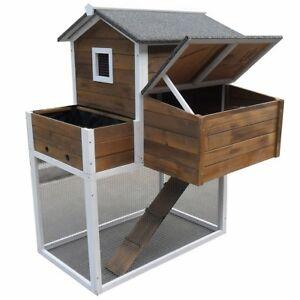 Kleintierhaus-mit-Freilauf-Hasenstall-Kaninchen-Stall-Hasenkaefig-Kaefig-Holz-Huhn