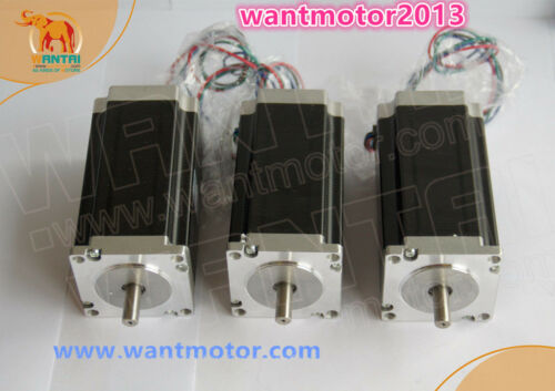 Wantai Nema23 3PCS Stepper Motor 425oz-in 4.2A Dual Shaft CNC Cutting EU Free