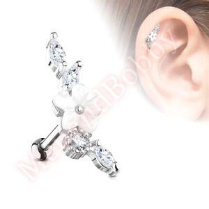 16G-CZ-Flower-Vine-Cartilage-Tragus-Barbell-Ear-Ring-Bar-Stud-Piercing-Jewellery