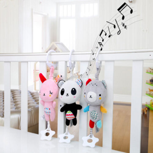 Cartoon Animal Shape Hand Shaking Press Bell Rattles Baby Early Educational Toys