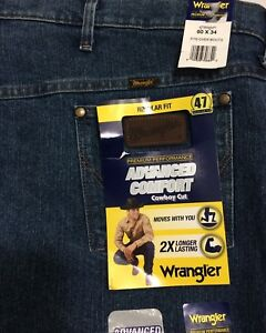 db42c880 Image is loading Wrangler-Premium-Performance-60x34-Advanced-Comfort-Cowboy- Cut-