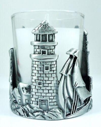 Votive Holder Lighthouse solid Pewter single Candle
