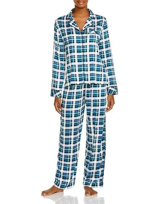 Splendid Pajamas PJ bluee Retro Plaid S L