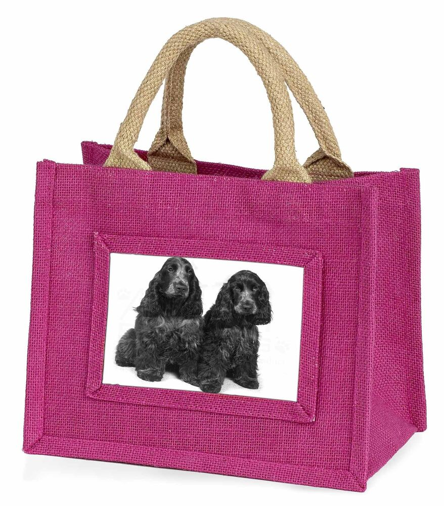 CréAtif Blue Roan Cocker Spaniel Dogs Little Girls Small Pink Shopping Bag Ch, Ad-sc1bmp Adopter Une Technologie De Pointe
