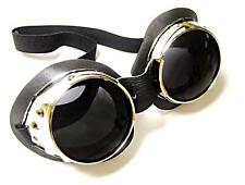 Metal Goggles goggle set pair tinted lenses UV400 Cosplay Burning Man