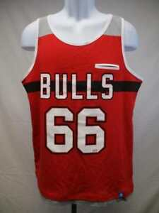 4cfcf2aec9bc New Chicago Bulls  66 Mens Size Large L Adidas Red Grey Tank Top  35 ...