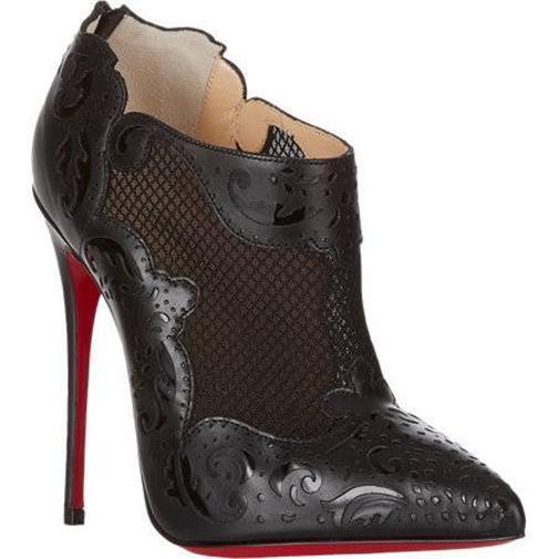Christian Louboutin Mandolina Blck Corte Láser Láser Láser Malla De Cuero Tacones botas Zapato de  1495  servicio honesto