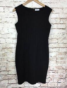 Calvin-Klein-Womens-Black-Sleeveless-Career-Sheath-Dress-Size-6