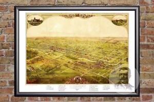 Vintage Lansing, MI Map 1866 - Historic Michigan Art - Old Victorian ...