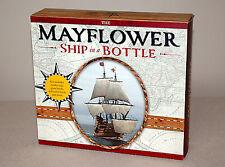 THE MAYFLOWER SHIP IN A BOTTLE KIT w/ Model Ship Glass Bottle Book | New in Box
