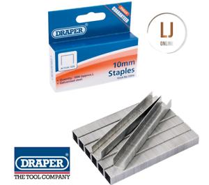 Draper 13956 1010HD Box Of 1000 10mm Staples Fits Draper 13951 T50 Staple Gun