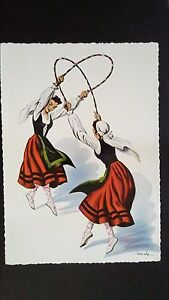 CPM-ILLUSTRATOR-MERLO-LE-PAYS-BASQUE-DANCE-OF-HOOPS
