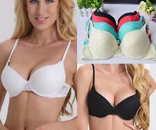 Womens Bra Push up Lace Bra Lady Brassiere Padded Lingerie Underwear A B C D Cup