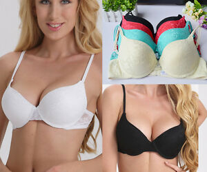 Womens-Bra-Push-up-Lace-Bra-Lady-Brassiere-Padded-Lingerie-Underwear-A-B-C-D-Cup