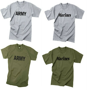 e1c3a0cf Kids Short Sleeve T-Shirt Military Army Marines Physical Training ...