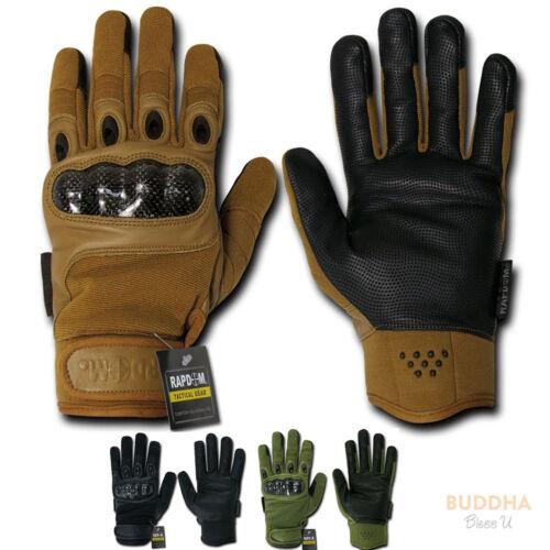 Rapid Dom Carbon Fiber Knuckle Tactical Patrol Military Gloves