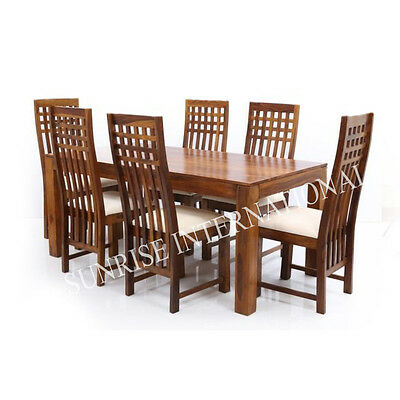 Stylish Wooden Dining table / Cushioned Chair / Bench furniture set(SUN-DSET660)