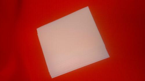 10 Hojas de espuma A4 Blanca-Llano 1mm de espesor