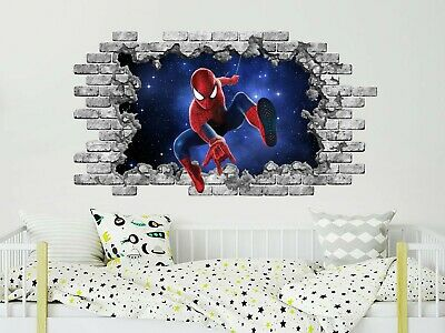 PERSONALIZED SPIDER-MAN Decal WALL STICKER Decor Art Marvel Super Hero WC292