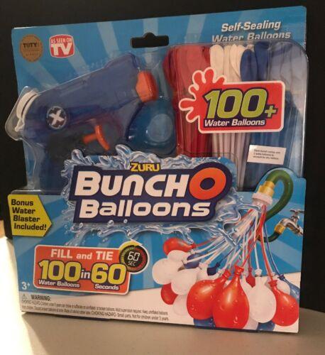 Zuru Bunch O Balloons Red White /& Blue 100 Balloons BONUS Water Blaster