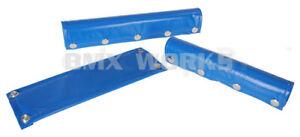 Vinyl Snap Closure 3 Piece BMX Pad Set