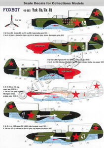 Foxbot Decals 1/48 Yakovlev Yak-1B Decal