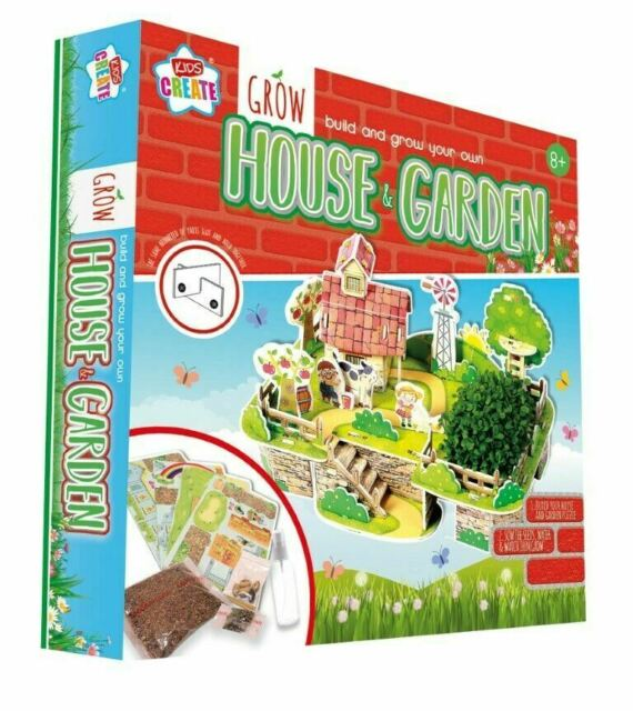 Remarkable Childrens House Garden Set Build And Grow Your Own Kit Kids Create Gardening Download Free Architecture Designs Rallybritishbridgeorg