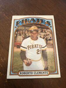 1972 Topps Roberto Clemente Pittsburgh Pirates #309 Baseball Card VG+- EX