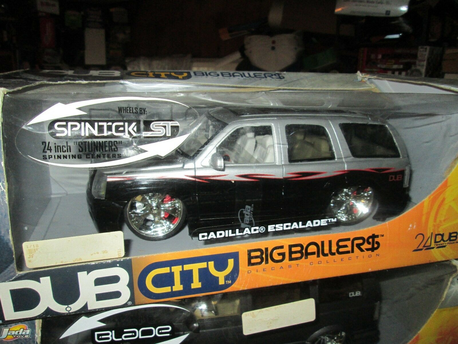 Dub City 24  Jada Toy Big Ballers 2002 Cadillac Escalade 1 18 Rara