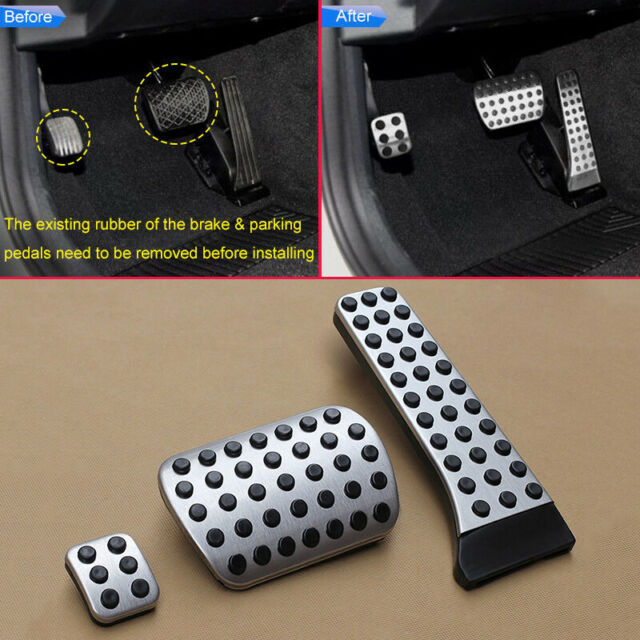 For Mercedes-Benz 2015-2019 C-Class Sedan (W205) Auto Pedal Covers Accessory Kit