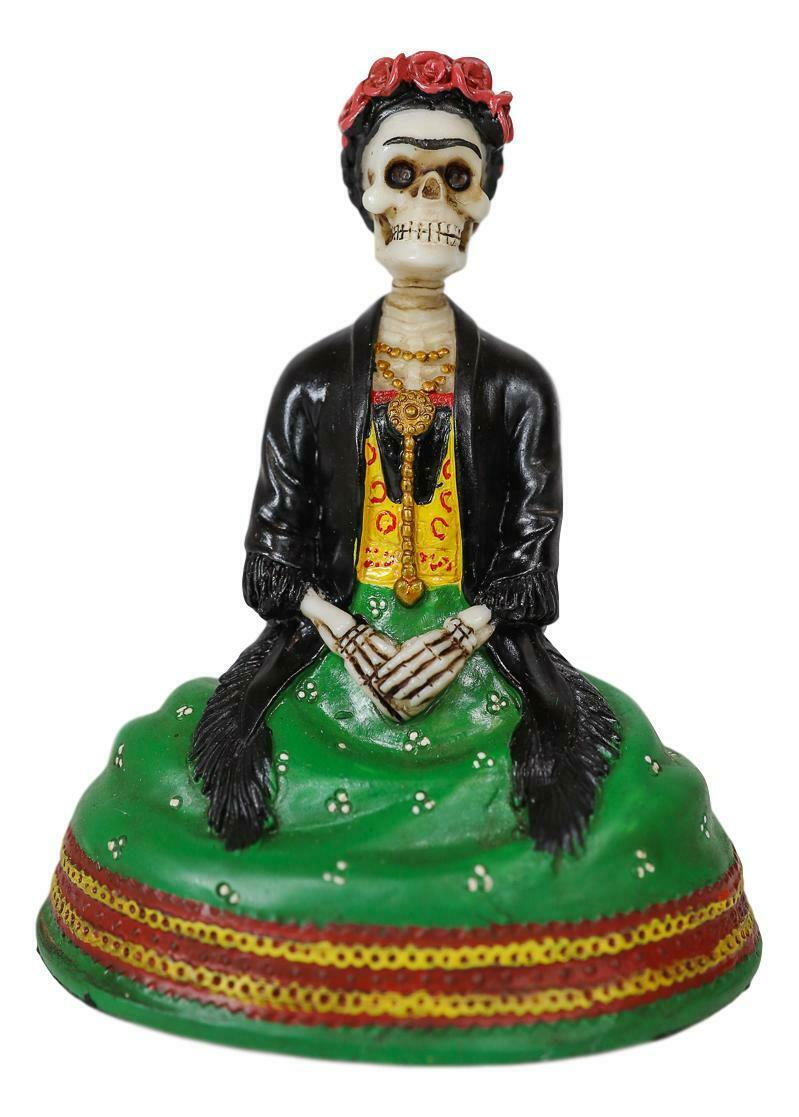 Skeleton Frida Kahlo Mexican Painter Day Of The Dead Dia De Los Muertos Figurine For Sale Online Ebay