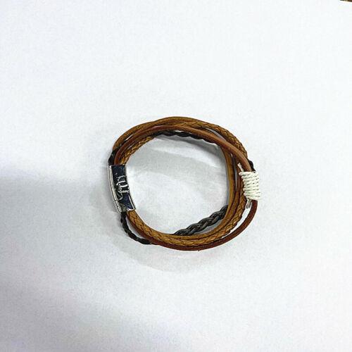 Pulsera clásica cuero multicapa Pulsera trenzada hecha a mano Hebilla de metal