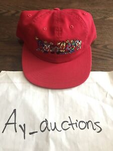 c71ba762514 Image is loading Supreme-Friends-6-Panel-Hat-Snapback-Red-Ss18-