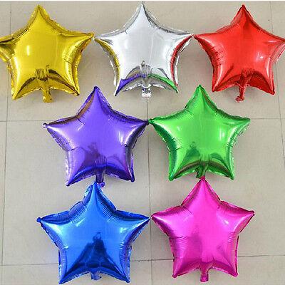 "5Pcs 18"" Star Foil Balloon Birthday Wedding Party Anniversary Helium Decor"